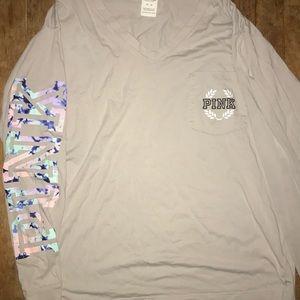 VS PINK long sleeve v neck shirt